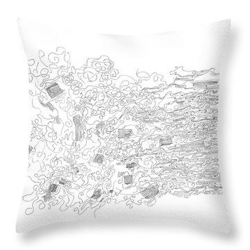 Polymer Fiber Spinning Throw Pillow