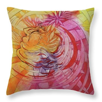 Throw Pillow featuring the drawing Polynesian Warrior by Marat Essex