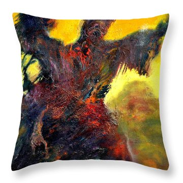 Polyphemus Hurling Boulders Throw Pillow