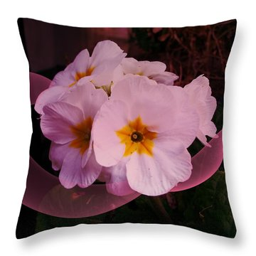 Polypink Throw Pillow