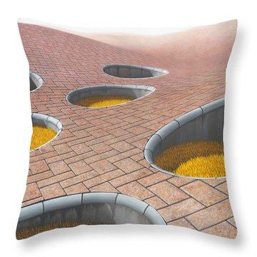 Polytrichum Antrum Throw Pillow