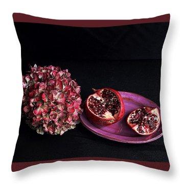 Pomegranate Still Life Throw Pillow