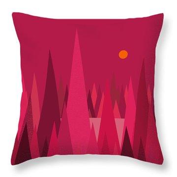 Pomegranate Wood Throw Pillow