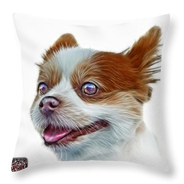 Pomeranian Dog Art 4584 - Wb Throw Pillow