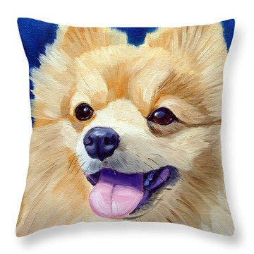 Pomeranian Throw Pillow by Lyn Cook