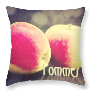 Pommes Throw Pillow by Angela Doelling AD DESIGN Photo and PhotoArt