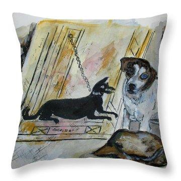 Pompeii Cane Throw Pillow