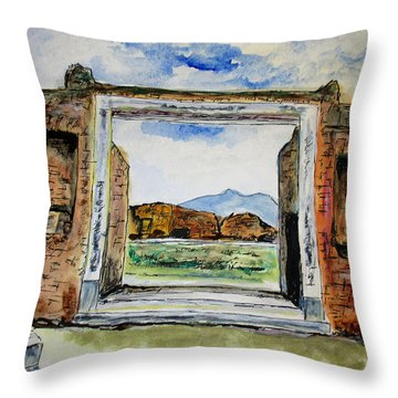 Pompeii Doorway Throw Pillow