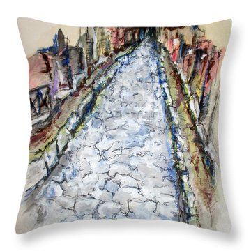 Pompeii Road Throw Pillow