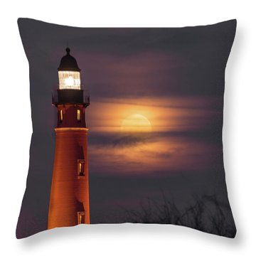 Ponce De Leon Full Moon Throw Pillow