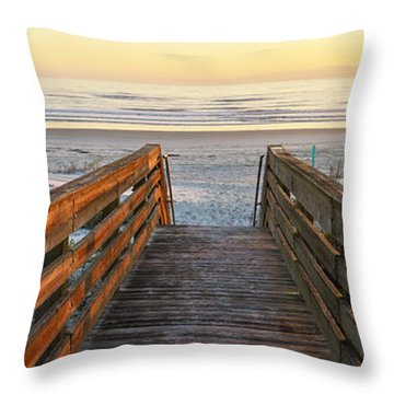 Ponce De Leon Inlet Beach Path Throw Pillow