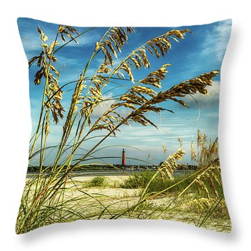 Ponce Inlet Lighthouse Throw Pillow
