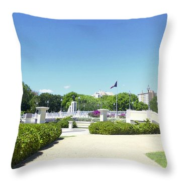Ponce's Ecological Park Throw Pillow