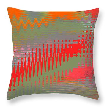 Pond Abstract - Summer Colors Throw Pillow by Ben and Raisa Gertsberg