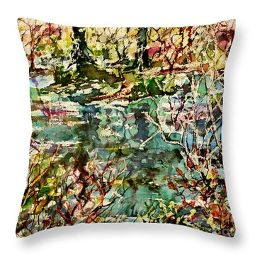 Pond And Beyond Throw Pillow