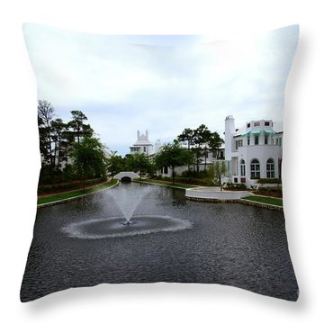 Pond At Alys Beach Throw Pillow