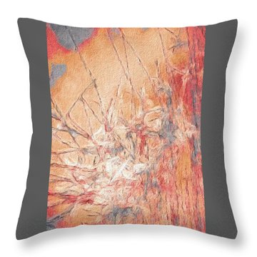 Pond In Fall Throw Pillow by William Wyckoff