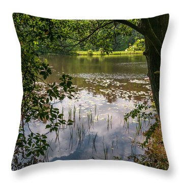 Pond In Spring Throw Pillow