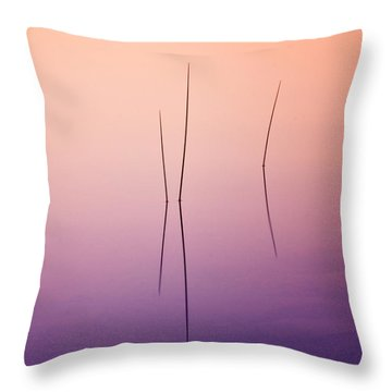 Pond Reeds - Abstract Throw Pillow by Thomas Schoeller