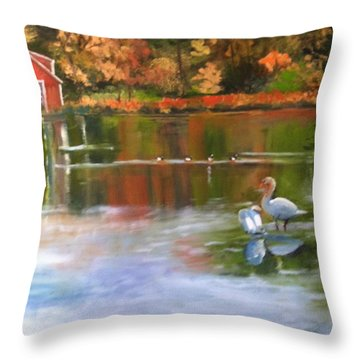 Pond Reflections Throw Pillow