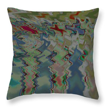 Pond Ripples Throw Pillow by Jean Booth