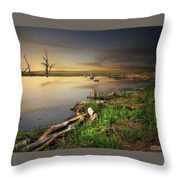 Pond Shore Throw Pillow