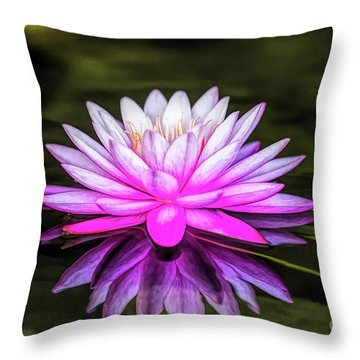 Pond Water Lily Throw Pillow