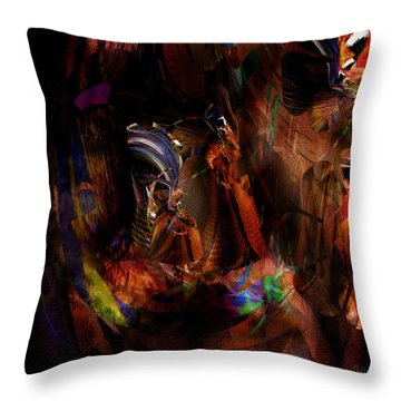 Ponder The Deep Mysteries Of Existence Throw Pillow