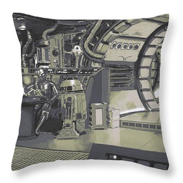 Pondering Chewie's Next Move Throw Pillow