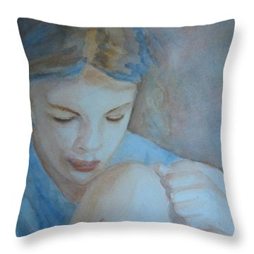 Pondering Throw Pillow by Jenny Armitage