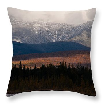 Pondicherry Light And Snow Throw Pillow