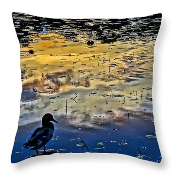 Pondscape Throw Pillow