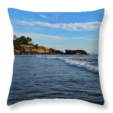 Poneloya Beach Before Sunset Throw Pillow