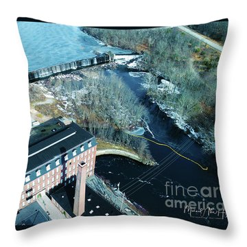 Ponemah Mill And Dam Throw Pillow