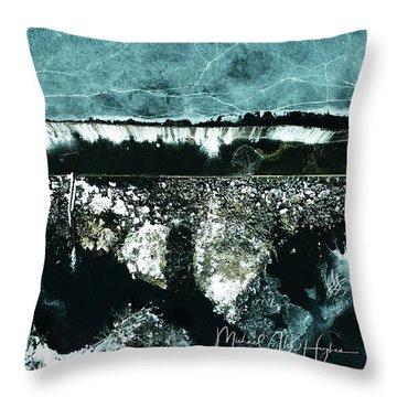 Ponemah Mill Dam Throw Pillow