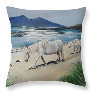 Ponies Of Muck- Painting Throw Pillow
