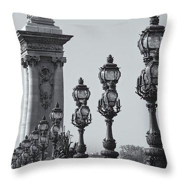 Pont Alexander IIi Detail Bw Throw Pillow