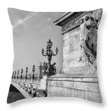 Pont Alexandre Throw Pillow