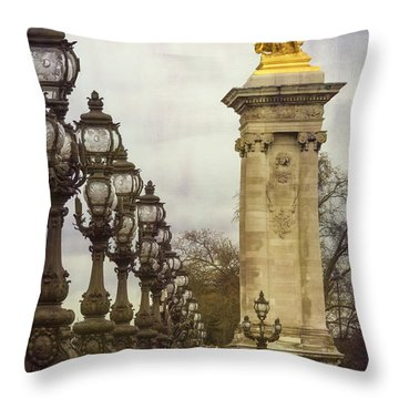 Pont Alexandre IIi Paris Throw Pillow