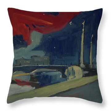 Pont Fragnee In Liege Throw Pillow