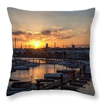 Ponta Delgada Sunset Throw Pillow