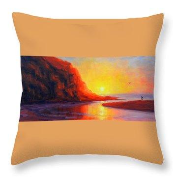 Ponta Negra, Peru Impression Throw Pillow