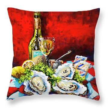 Pontchartrain Leblanc With Oysters Throw Pillow