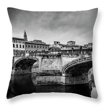 Ponte Santa Trinita Throw Pillow
