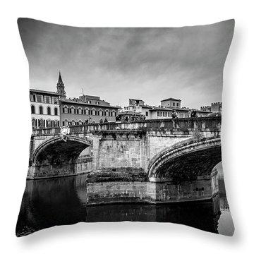 Ponte Santa Trinita Throw Pillow by Sonny Marcyan
