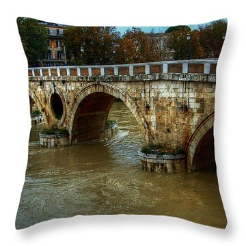 Ponte Sisto Bridge Rome Throw Pillow