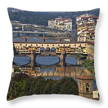 Ponte Vecchio - Florence Throw Pillow by Joana Kruse