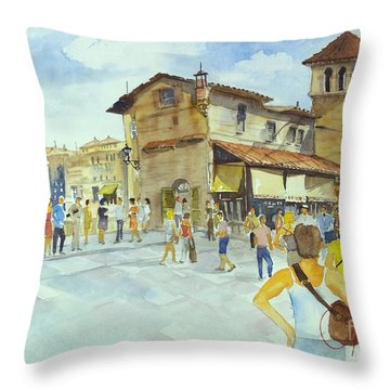 Ponti Vecchio Throw Pillow