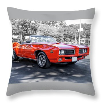 Pontiac G T O Judge Convertible Throw Pillow