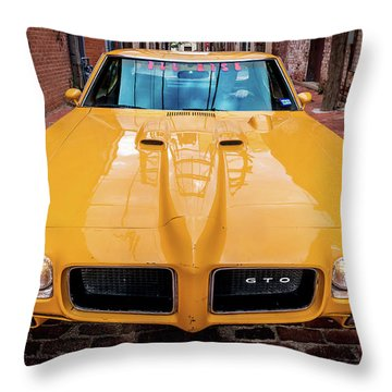 Pontiac Muscle Throw Pillow